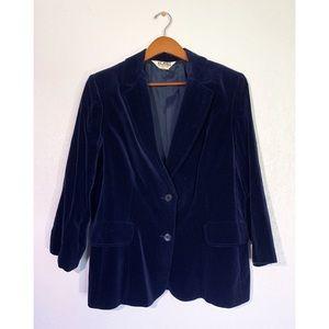VTG Koret of California Royal Blue Velvet Blazer
